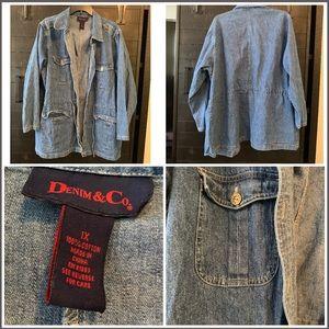 Denim & Company Jean Jacket Size 1X
